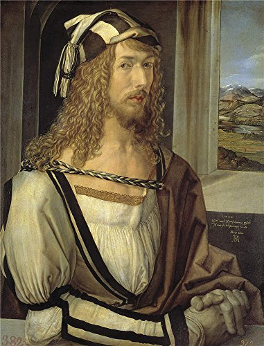 Oil Painting 'Durer Albrecht Self Portrait 1498', 12 x 16 inch / 30 x 40 cm , on High Definition HD canvas prints is for Gifts And Hallway, Home Office And Home Theater Decoration, giant