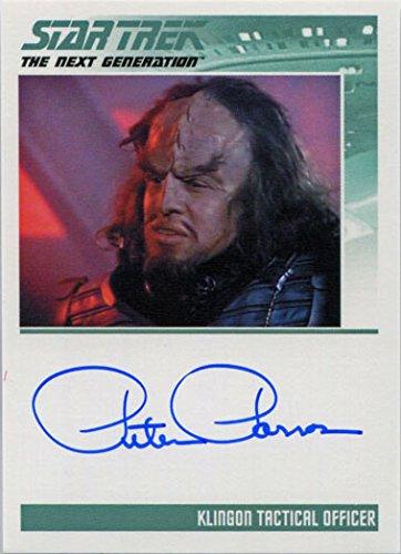 Lead Trek TNG Portfolio Prints S2 Autograph Card Peter Parros as Klingon