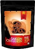 Organic Saigon Cinnamon - Naturally Sweet Flavor - Perfect for Cinnamon Rolls, Apple Pie, Baking, Smoothies - Unprocessed & Hand Harvested - 100% Satisfaction Lifetime Guarantee