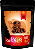 Cinnamon Organic Saigon - Fine Powder - Naturally Sweet Flavor - Perfect for Cinnamon Rolls, Apple Pie, Baking, Smoothies - Unprocessed & Hand Harvested - 100% Satisfaction
