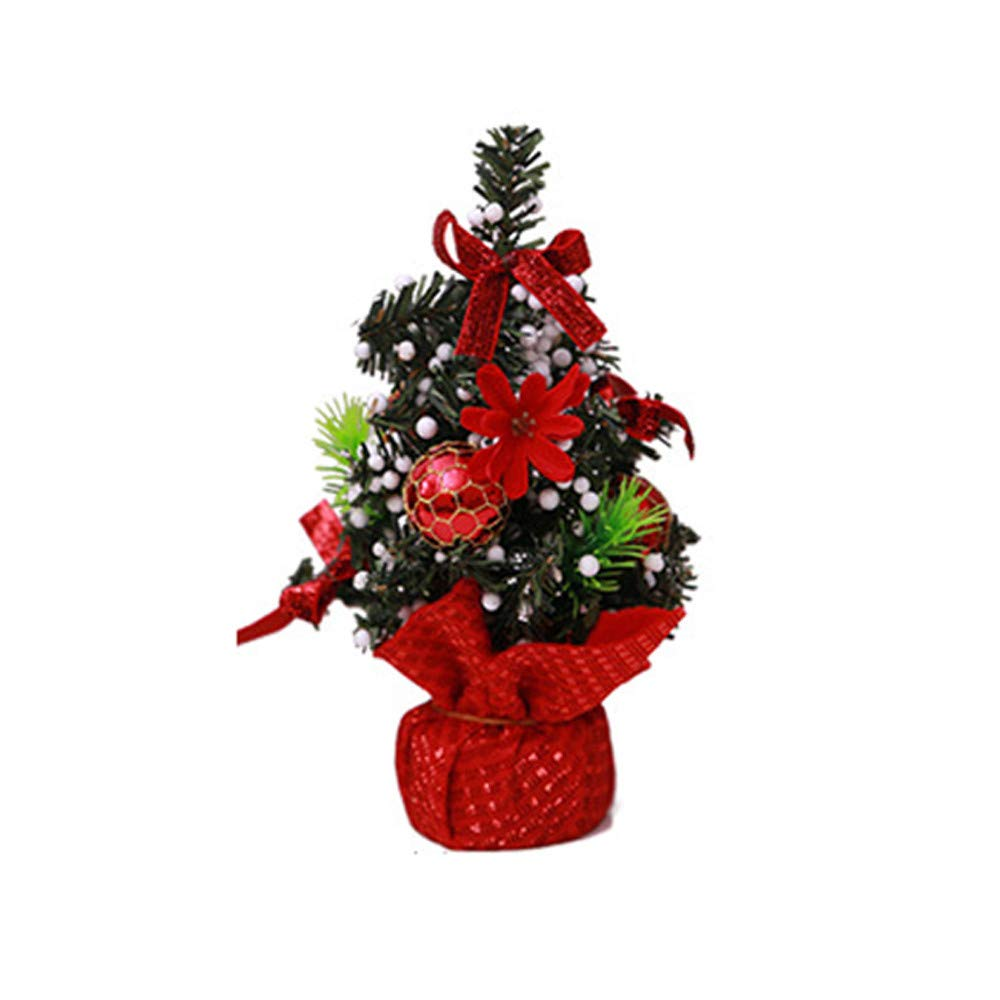 Fullfun Christmas Tree Home Bedroom Desk Decoration Toy Doll Gift Office Home Children Party Supplies (H)