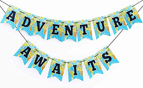 Globe Banner - Adventure awaits going away party Bon