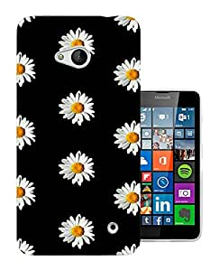 562 -Cute Vintage shabby Chic Floral Roses Daisy Design Nokia Lumia 640 Fashion Trend CASE Gel Rubber Silicone All Edges Protection Case Cover
