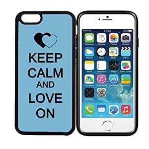 iPhone 6 (4.7 inch display) RCGrafix Keep Calm And Love On 1 - Designer BLACK Case - Fits Apple iPhone 6- Protected Cell Phone Cover PLUS Bonus Iphone Apps Business Productivity Review Guide
