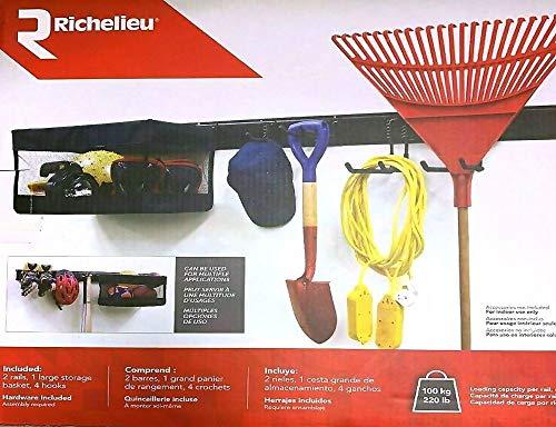 RICHELIEU 7 Piece Garage Organization System with Storage Basket