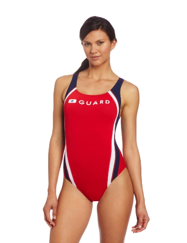Speedo Women's Guard Pulseback, Red, 36