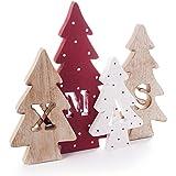 Alberelli di Natale in varie fantasie e misure - ideali come decoro per la casa nel periodo delle feste - colorati e in legno 100% - resistenti agli urti - decorazione natalizia (Xmas Tree 29x23)