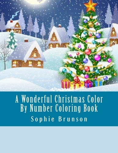 A Wonderful Christmas Color By Number Coloring Book: Winter Season Festive Holiday Christmas Large Print Coloring Book For Adults (Winter Adult Coloring -