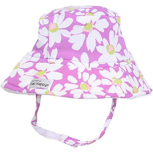Flap Happy Girls' UPF 50+ Printed Fun in The Sun Hat, Daisy Jane, Small ()