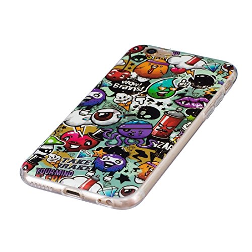 Phone Taschen & Schalen Für iPhone 6 Plus & 6s Plus Noctilucent Plum Pattern IMD Workmanship Soft TPU Back Cover Case ( SKU : Ip6p0938j )