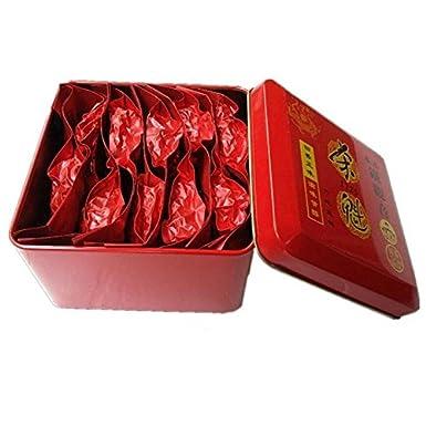 155g (0.34lb) 10 paquetes de Té de Oolong de leche china saludable superior, té TieGuanYin de leche, embalaje de regalo de comida verde Latas de ...