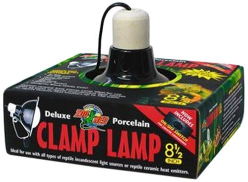Zoo Med Deluxe Porcelain Clamp Lamp with 8.5-Inch Dome, (Zoo Med Ceramic)