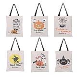 Charberry Halloween Candy Bag Gift Bag Canvas Tote Casual Beach Bags Shopping Bag Handbag