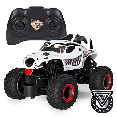 Monster Jam Official Monster Mutt Dalmatian Remote Control Monster Truck, 1:24 Scale, 2.4 GHz, for Ages 4 and Up ()