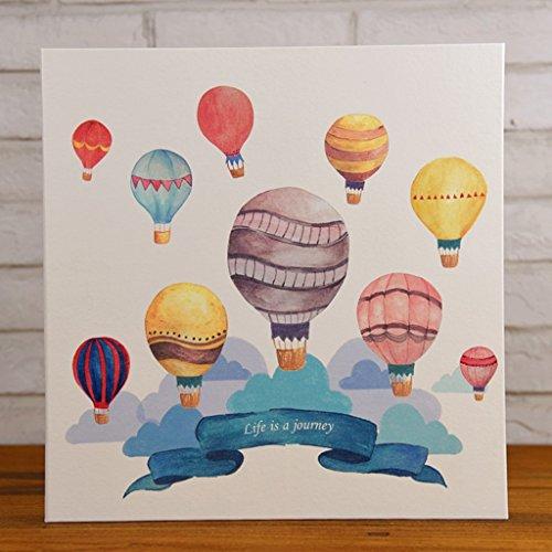 LANNA SHOP- Cartoon Photo Album,PU Anniversary Scrapbook DIY Album,Wedding Memo Photos Album (33.3x32.4x5cm) ( Color : Hot air balloon )