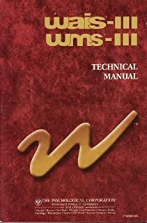 wais iii administration and scoring manual wechsler adult rh amazon com wais-iii administration and scoring manual WAIS-IV Scoring Assistant