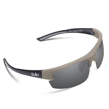 Ewin E52 Gafas de Sol de Deporte Polarizadas, TR62 Marco Irrompible, UV400 Protección,