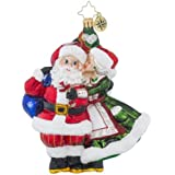 Christopher Radko Mr. & Mrs. Mistletoe Santa Claus Christmas Ornament