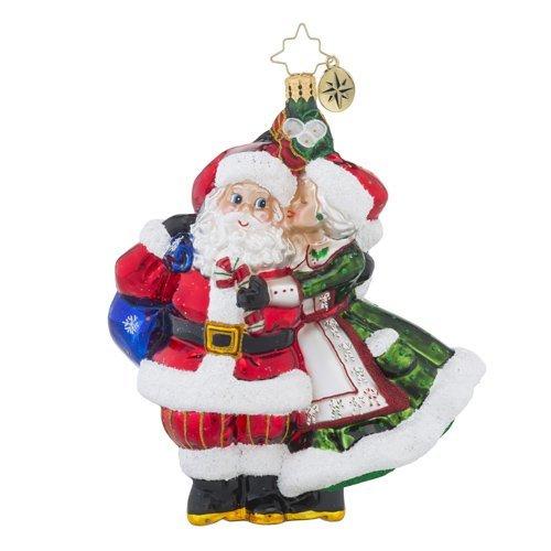 Christopher Radko Mr. & Mrs. Mistletoe Santa Claus Christmas Ornament -  1018452