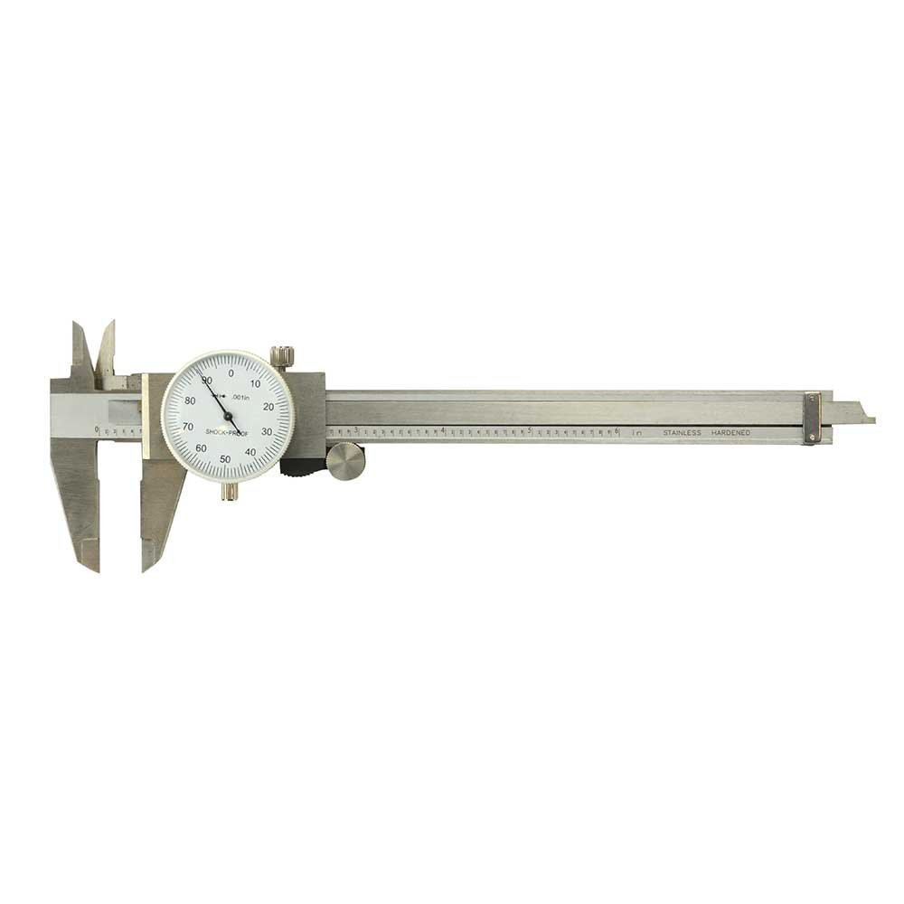 Big Horn 19201 Dial Caliper with Plastic Box, 6'', Silver