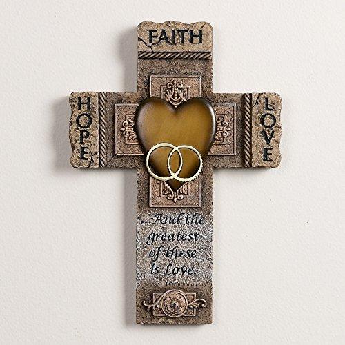 Abbey Gift Faith Hope Love Marriage Cross (Faith Crosses By)