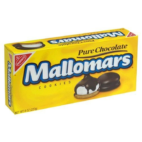 Mallomars Pure Chocolate Cookies 8 ounce box -18 Cookies Per Box- 2 Boxes by Nabisco