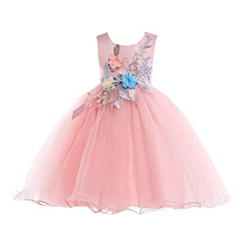 Mädchen Prinzessin Kleid Blumenmaedchenkleid Geburtstag Weihnachten ...