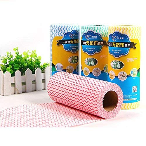 Kitchen Cleaning Supplies Kitchen Rag Reusable Cleaning Wipes Cloths, Multipurpose Non Woven Fabric OTP Disposable Cleaning Towel Dish Cloth (2 Roll Of 100Pcs) Dish Towels Kitchen Paper Towels