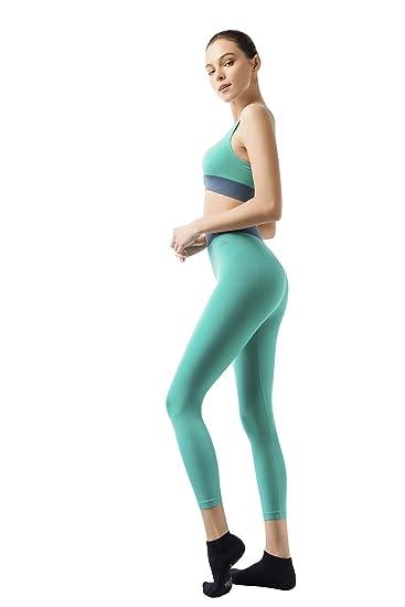 Lin Women Yoga Fitness Seamless Sports Bra+Capri Leggings Set Gym Workout  Sports Wear Greens 3c20d1105
