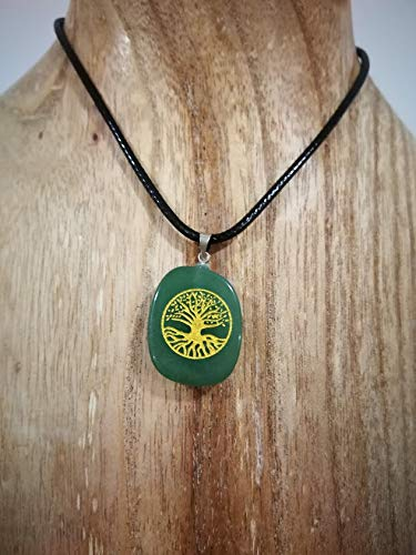 Colgante Árbol de la Vida, Colgante de Piedras Naturales, Colgante Protección, Colgante Suerte.