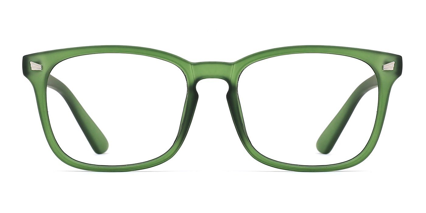 TIJN Blue Light Blocking Glasses Square Nerd Eyeglasses Frame Anti Blue Ray Computer Game Glasses 00089303