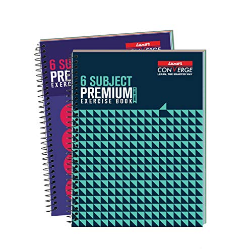 Luxor 6 Subject Spiral Premium Exercise Notebook, Single Ruled - (18cm X 24cm), 300 Pages, Pack of 2 (B07ZNR2PGH) Amazon Price History, Amazon Price Tracker