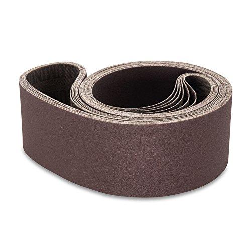 2 X 48 Inch 36 Grit Aluminum Oxide Metal Sanding Belts, 6 Pack by Red Label Abrasives