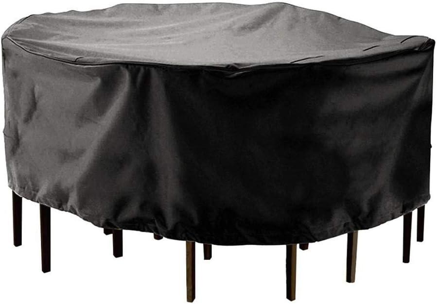 QFLY テーブルと椅子カバー屋外のラウンドテーブルと椅子カバー防水ダストカバー210Dオックスフォード生地 家具カバー (Size : 185*110cm)