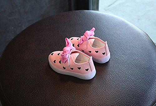 Oyedens Frühling Sommer Herbst Breathable LED Schuhe Leuchtschuhe Kinderschuhe Rosa