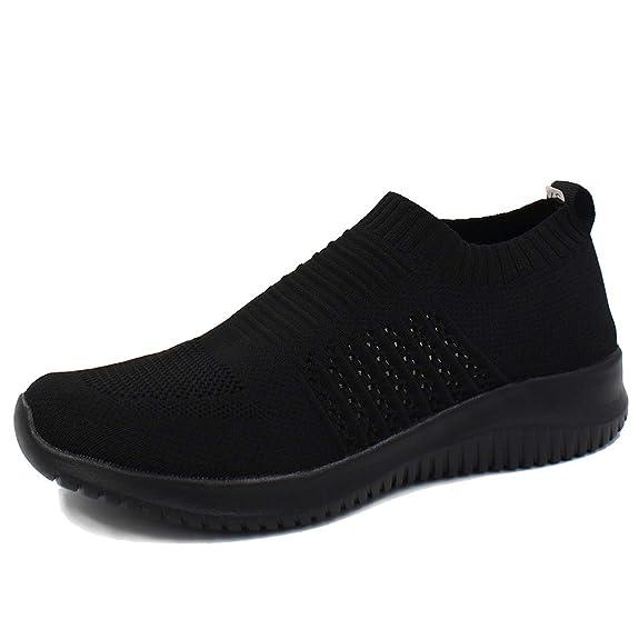 L LOUBIT Women Sneakers Slip on Athletic Tennis Breathable Walking Shoes