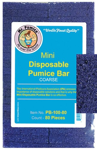 Mr. Pumice Mini Disposable Pumice Bars (Coarse) 80pcs