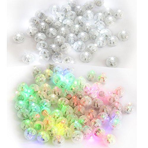 Accmor 120pcs LED Mini Round Ball Balloon Light, Long Standby Time Ball Lights for Paper Lantern Balloon Party Wedding Decoration(White+Multi-color) (With Balloons Decorations Wedding)