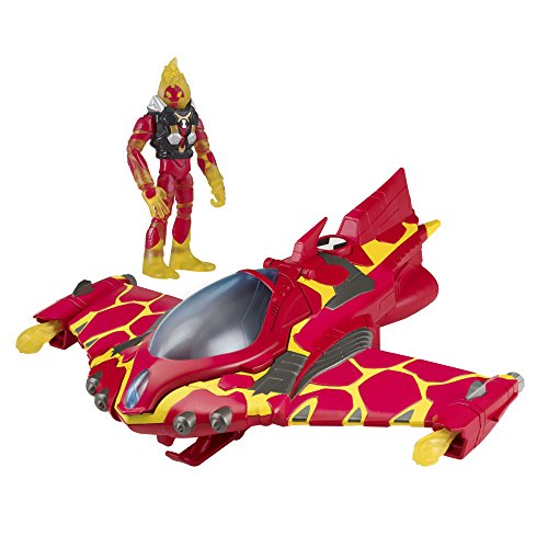Ben 10 Vehicles - Ben 10 Heatblast Action Figure with Rocket Flyer