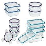 Snapware 24-Piece Total Solution Food Storage Set, Glass