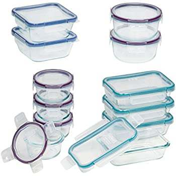 Snapware 24-Piece Total Solution Food Storage Set, Glass