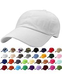 4a8ab46014f7b Classic Baseball Cap Dad Hat 100% Cotton Soft Adjustable Size