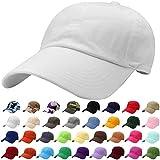 Falari Baseball Cap Hat 100% Cotton Adjustable Size White 1805