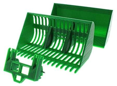 Treckerheld zubehör set c für siku control mit frontlader grün