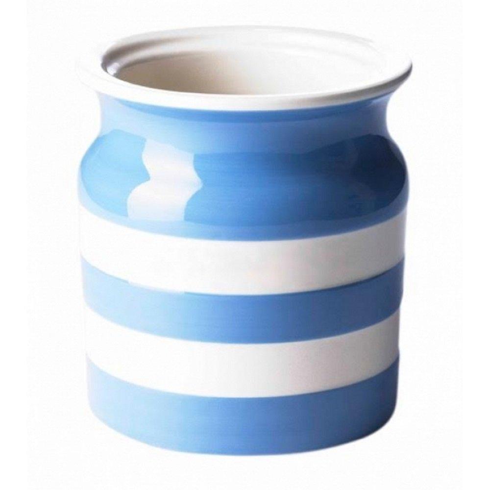 Cornishware Blue and White Stripe Stoneware Utensil Jar 083206CB Ceramic Decorative_Canisters Food_Storage
