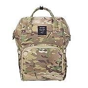 Gizwise Camo Backpack Diaper Bag for Women Men Insulated Toddler Travel Backpack with Stroller Hook