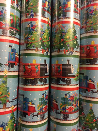 [Christmas Wrapping Thomas the Train Holiday Stockings Paper Gift Greetings 2 Roll Design Festive Wrap Edward Henry] (Thomas The Train Costume Walmart)