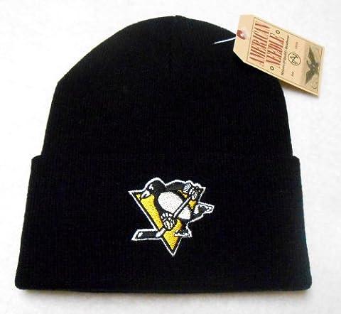 Pittsburgh Penguins NHL American Needle Basic Knit Beanie Hat - Black