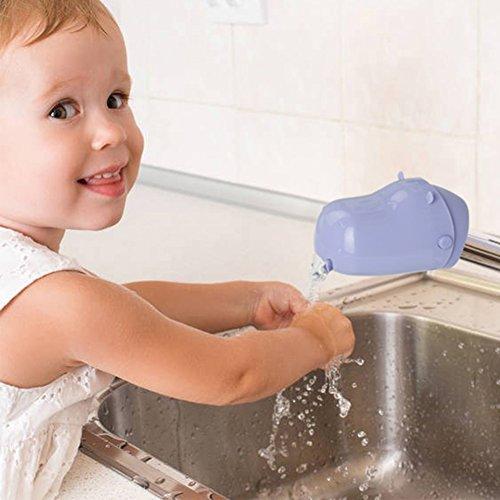 Hippo Spout Guard, Sunbaby Bath Spout Extender, Faucet Cover/Guard Toys- Make Handwashing Habits for Children (Purple)