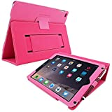 iPad 3 & 4 Case, Snugg™ - Smart Cover with Flip Stand & Lifetime Guarantee (Hot Pink Leather) for Apple iPad 3 and 4